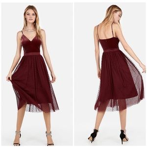 Express Velvet Bodice Tulle Skirt Dress